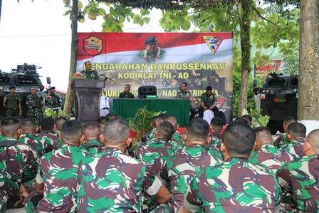 Danpussenkav Kodiklat TNI AD kunjungi  Yonkav 6/Naga Karimata