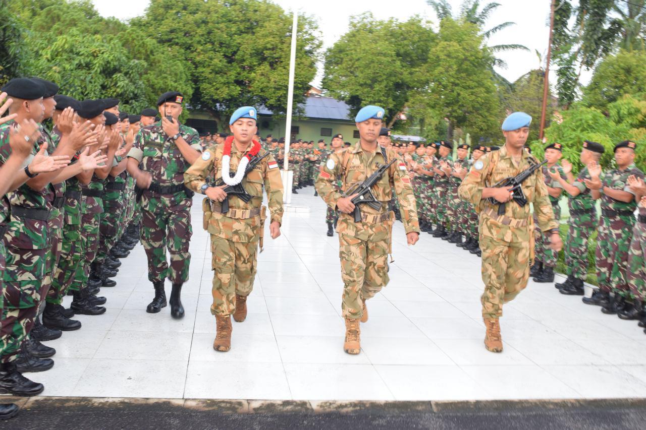 Penyambutan kembalinya prajurit-prajurit Naga Karimata sebagai duta negara dalam misi perdamaian PBB