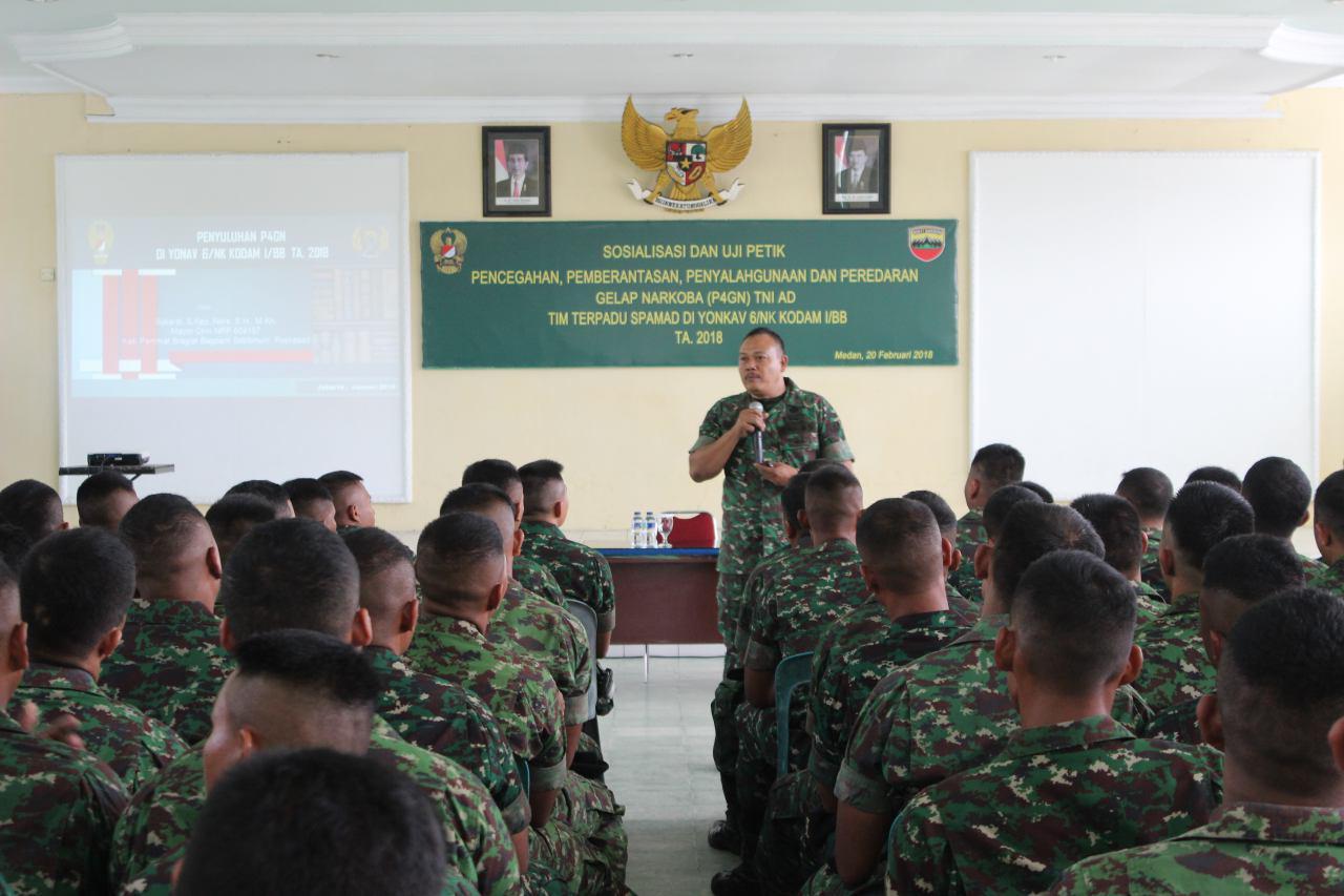 Batalyon Kavaleri 6/Naga Karimata Gelar Sosialisasi Uji Petik P4GN