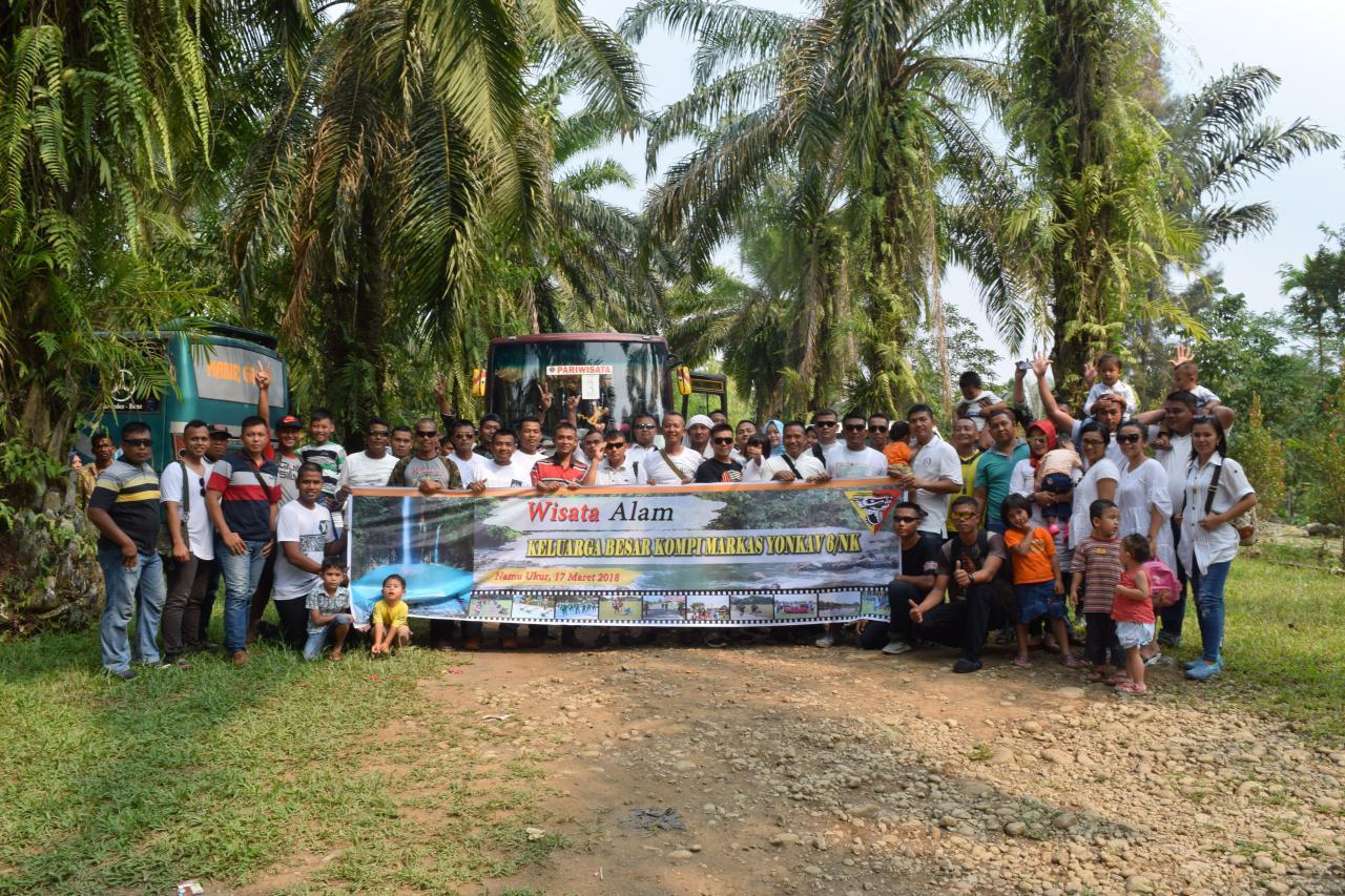 Rekreasi Keluarga Besar Yonkav 6/NK Pererat Tali Silaturahmi Antar Sesama Prajurit Beserta Keluarga