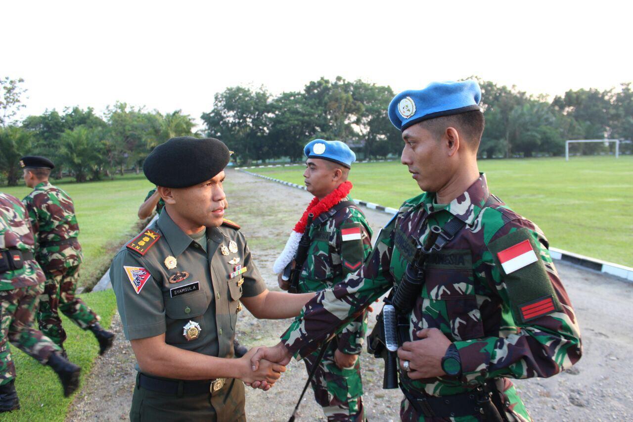 Yonkav 6/NK Lepas 3 Prajurit Terbaiknya Ikut Serta dalam Satgas Yon Komposit TNI Konga XXXV-D Unamid Darfur.
